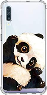Oihxse Shockproof Case Compatible for Galaxy A30/A20 Clear Back with Design, Soft Silicone TPU Ultra Thin Slim Fit Chic [Air Cushion] Corners Protection Crystal Transparent Cover(Panda)