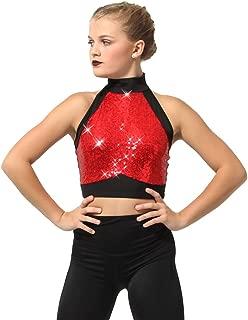 girls sequin dance top