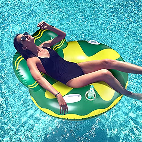 NXWL Inflatable Pool Floats,Pool Float Raft with Cup Holder and Handles, Multi-Purpose Floating Lounge Chair with Headrest, Portable Water Hammock Floaties with Mesh Bottom for Adults/Kids
