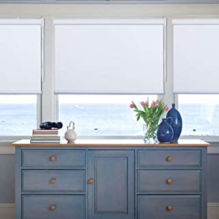 Kingmond Thermal Insulated 100% Blackout Waterproof Fabric Custom Window Roller Shades Blinds,65