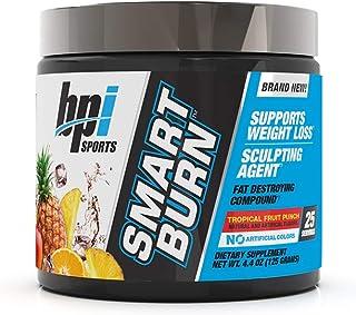 BPI Sports Smart Burn � Weight Loss, Burn Fat, Energy � Carnitine, Cla, Green Tea, Caffeine, Theobromine, Dynamine � for Men & Women � No Artificial Colors � Fruit Punch � 25 Servings � 4oz