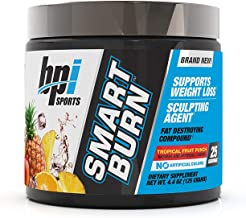 BPI Sports Smart Burn – Weight Loss, Burn Fat, Energy – Carnitine, Cla, Green Tea, Caffeine, Theobromine, Dynamine – for M...