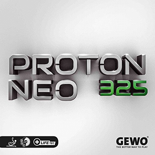 GEWO Belag Proton Neo 325, schwarz, 2,0 mm