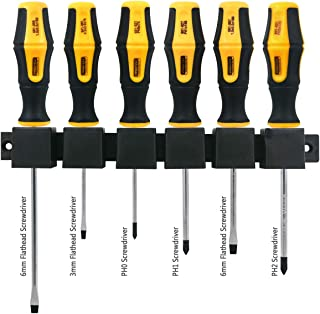 Acekit Screwdriver Set Magnetic Screwdriver Tips Comfortable Non-slip Ergonomic Handle Heavy Duty Repair Tool For Electron...