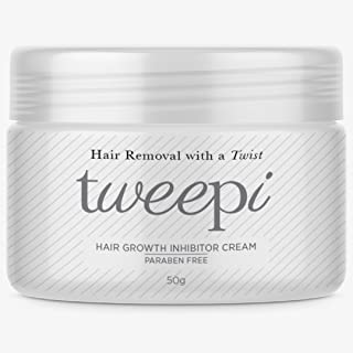 Tweepi Hair Growth Inhibitor Cream- Permanent Body and Face Hair Removal - Modern Day Ant Egg Cream- Paraben Free Hair Remover Cream Face And Body - MADE IN UK- 50G by Tweepi