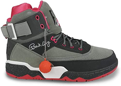 EWING Athletics 33 HI X Staple grau Rosa Weiß Basketball schuhe Limited Edition
