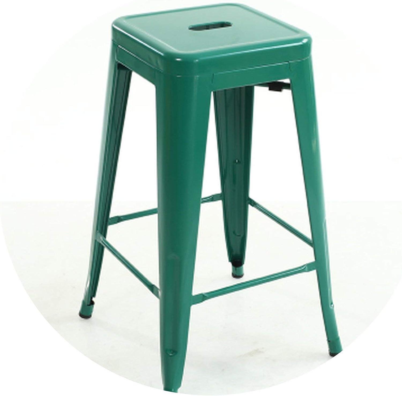 Quality Metal bar Stool high Stool bar Chair Front Desk bar Chair,Green H61 cm