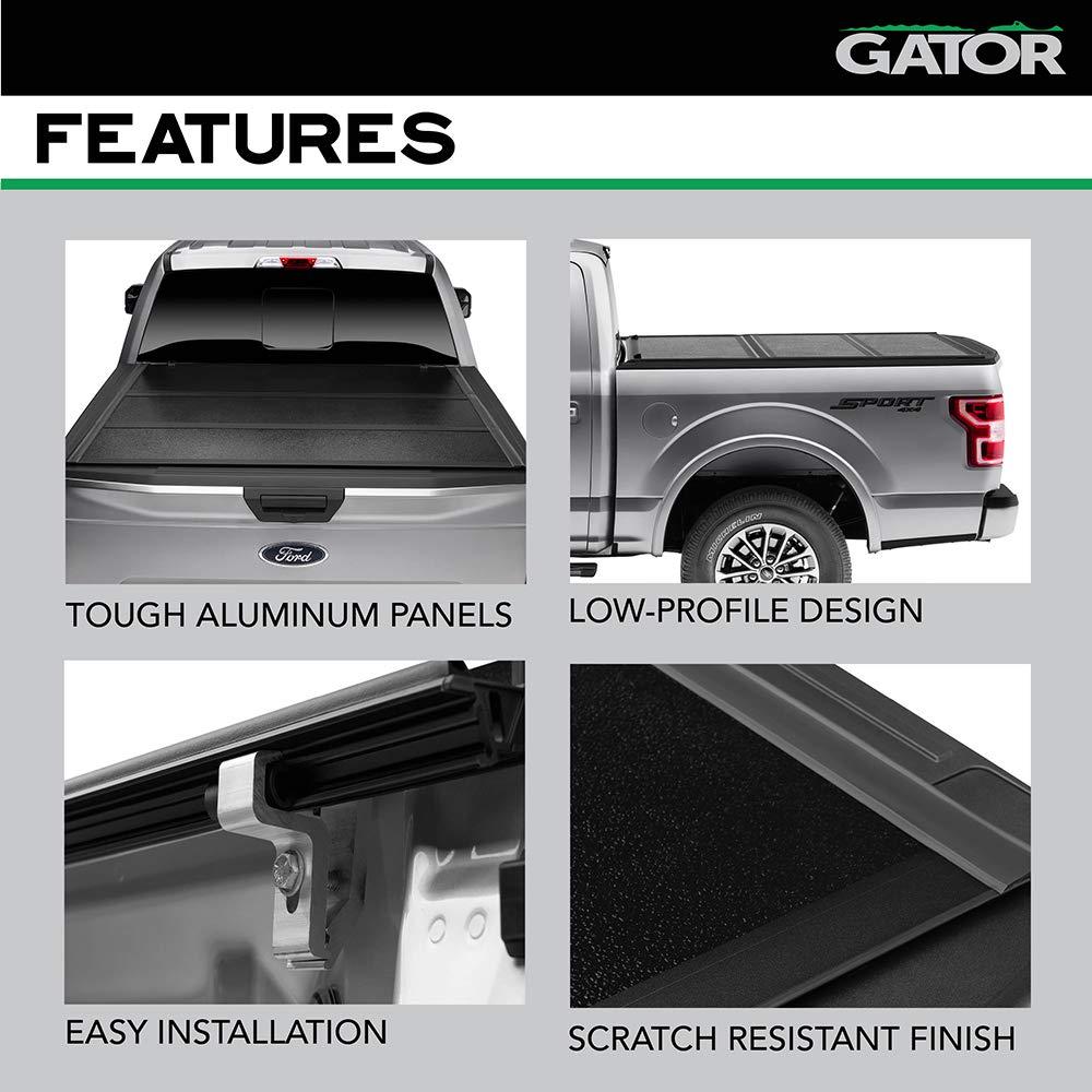 Amazon Com Gator Efx Hard Tri Fold Truck Bed Tonneau Cover Gc14019 Fits 2014 2018 2019 Ltd Lgcy Chevy Silverado Legacy Gmc Sierra Limited W Rail System 6 6 Bed Made In
