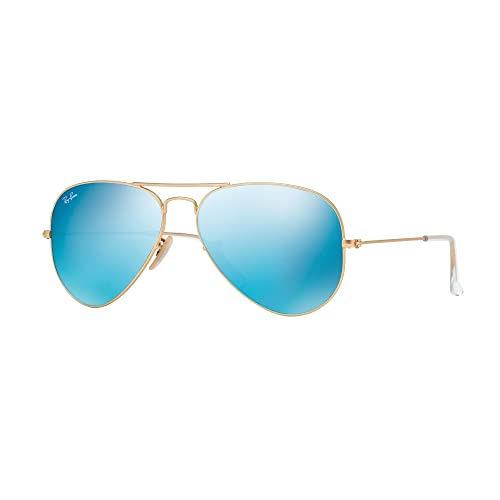 4a56f1922e Aviator Sunglasses In Matte Gold Blue  Amazon.com