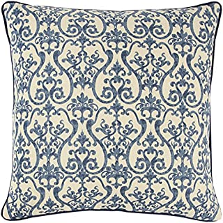 Rizzy Home Andrew Charles Collection Printed Only, Burlap/Cotton Duck Decorative Pillow, 20