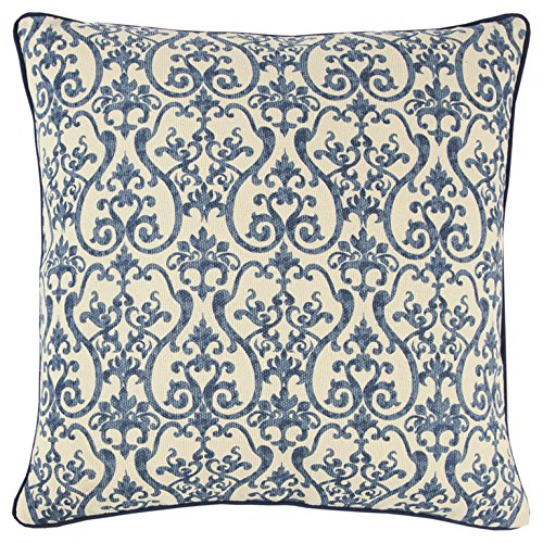 "Rizzy Home T11217 Decorative Pillow, 20""X20"", Blue"