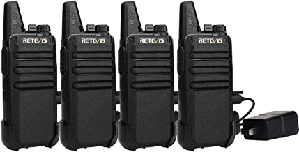 Retevis RT22 Walkie Talkies Rechargeable Long Range FRS VOX Emergency Alarm Channel Lock Privacy Code Mini 2 Way Radio Adults Outdoor (4 Pack)
