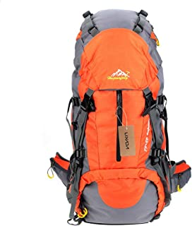 Lixada Hiking Backpack 50L with Rain Cover Waterproof Outdoor Trekking Camping Travel Pack Mountaineering Climbing Knapsack