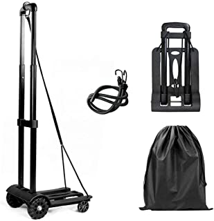 Folding Luggage Truck, Luggage Cart 50KG/110lbs Heavy Duty Utility Cart, Lightweight Collapsible Portable Fold Up Dolly fo...