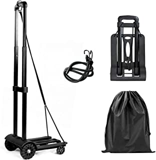 Folding Luggage Truck, Luggage Cart50KG/110lbsHeavy Duty Utility Cart, Lightweight Collapsible Portable Fold Up Dolly fo...