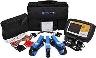 Dranetz PowerVisa DBPV500 Power Quality Analyzer Kit, 3 Phase, TRMS, 500A Kit Current Capability