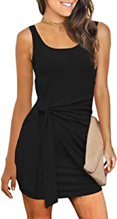 Women's Summer Casual T Shirt Dresses Sleeveless Bodycon...