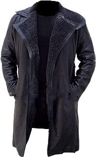Leather Factory Blade Runner 2049 Ryan Gosling Waxed Cotton Black Trench Coat Men's, Women