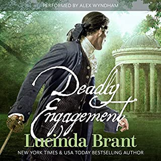 Deadly Engagement     A Georgian Historical Mystery (Alec Halsey Mystery Book 1)               By:                                                                                                                                 Lucinda Brant                               Narrated by:                                                                                                                                 Alex Wyndham                      Length: 9 hrs and 47 mins     14 ratings     Overall 4.6
