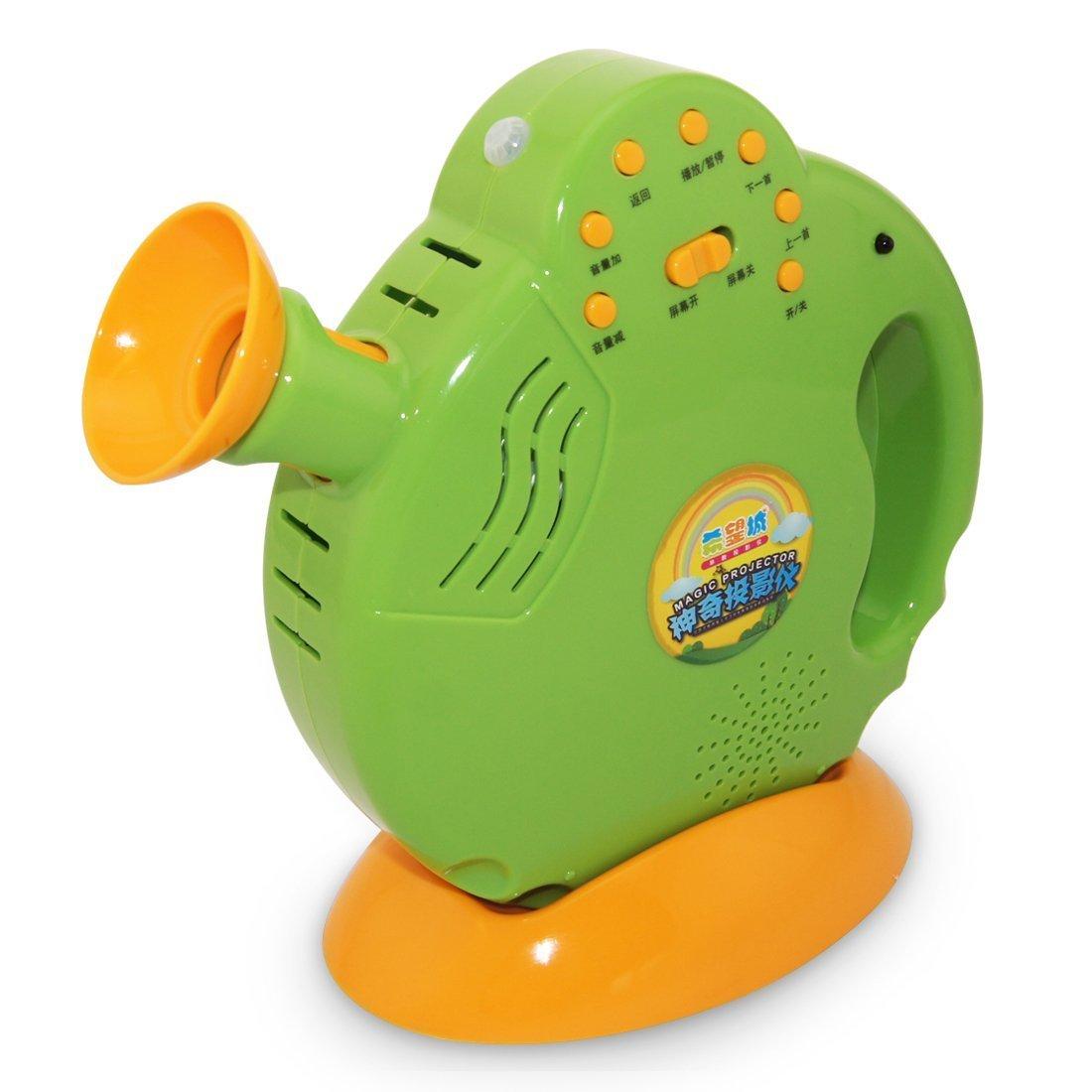 希望城投影仪儿童投影仪益智玩具早教机故事机儿童玩具可充电可下载早教投影四练互动教学法绿色款