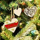 VGOODALL Holzherzen Deko, 500 STK. Holzscheiben Herz Streudeko zum Basteln DIY für Hochzeitsdeko Tisch Weihnachten Geburtstag Taufe Valentinstag Geschenkanhänger - 6