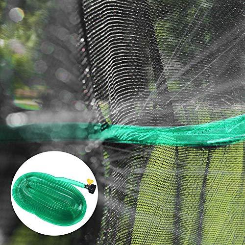 pengyu-Trampolin-Sprinkler-Rohr, 12 m Trampolin-Wassersprinkler für Kinder Sommer Party Spiel Garten Rasen Bewässerungsrohr Grün einfarbig