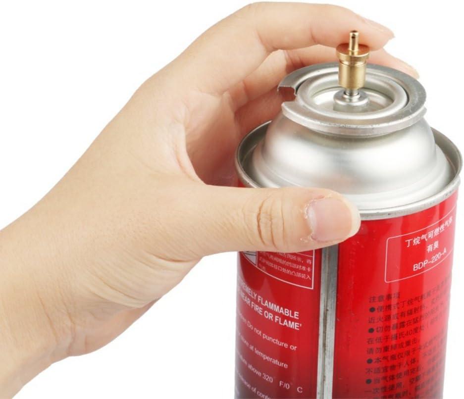 Doubleer Adaptador de recambio de gas para estufa de acampada al aire libre, accesorios para quemador de gas inflado de butano