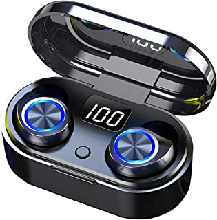 Wireless Earbuds with Touch Control 5.0 Bluetooth Earphones, Wireless Charging Waterproof HD Stereo in-Ear Headphones with...