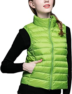 Yuxusus Women Down Vest Stand Collar Gilet Quilted Packable Lightweight Puffer Jacket