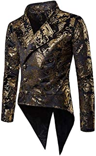 Men's Fashion Floral Suits Blazer Prom Party Tuxedos Double Breasated Jacket Dinner Suit