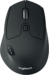Logitech M720 Triathlon Wireless Mouse, Multi-Device, Bluetooth and 2.4 GHz with USB Unifying Receiver, 1000 DPI, 8-Buttons, 24-Month Battery Life, laptop/PC/Mac/iPad OS - Graphite Black