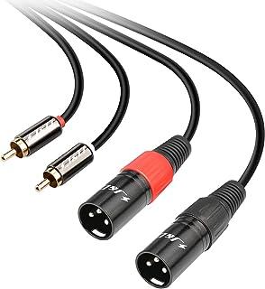 LoongGate C/âble adaptateur TRS vers 2 XLR en Y 3,5 mm Mini st/ér/éo m/âle vers double XLR Female 1.5m