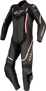 3181017 1231 48 - Alpinestars Stella Motegi v2 1 Piece Leather Motorcycle Suit 48 Black White Red Fluo (UK 16)