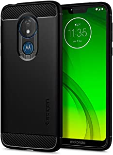 Spigen Rugged Armor Designed for Moto G7 Power Case (2019) - Matte Black