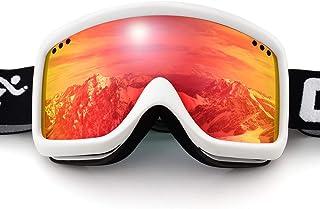 7c3c9583c6 COPOZZ Kids Ski Goggles