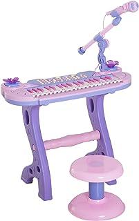 comprar comparacion HOMCOM Piano Infantil 37 Teclas Teclado Electrónico Juego de Piano Regalo Juguete Educativo para Niños +3 Años con Micrófo...