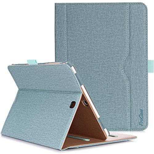 ProCase Schutzhülle für Galaxy Tab S2 9.7- Leder Stand Folio Tasche für Galaxy Tab S2 Tablet (9,7 Zoll, SM-T810 T815 T813) -Knickente