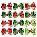 Miaoo 12PCS Baby Girls Christmas Grosgrain hair bow Clips Barrettes