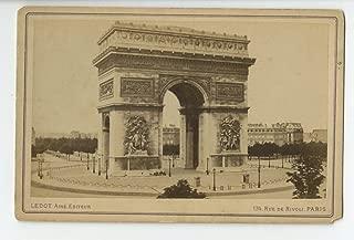 Paris, France - Original 19th Century Cabinet Card Photo - Arc de Triomphe