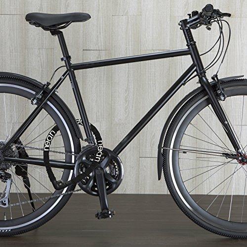 Fahrradschloss Kettenschloss nean 2 Schlüssel, textilummantelt, schwarz, 22 x 1000 mm - 5