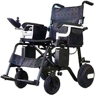 De peso ligero plegable sillas de ruedas eléctrica Silla de ruedas, 2020 Compacto Ultra-Light Silla de ruedas eléctrica portátil, plegable portátil Silla de ruedas eléctrica (batería de ión de litio),