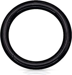 BodyJ4You Piercing Ring Hinged Clicker Segment Hoop 10G-20G Surgical Steel Nose Septum Lip Tragus
