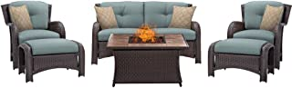 bali outdoors 5 piece gas fire chat set