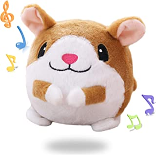 Juguetes de bebé música hámster juguetes repite lo que usted dice y juega 50 canciones de animales de peluche musical juguetes de gateo 6 y 9 meses de edad juguetes bola para niños y niñas niños