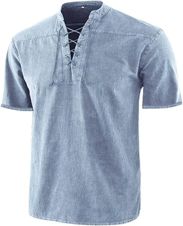 shopping Men's Short Sleeve Hippie Shirts Yoga Bea Casual Collar Sales Mandarin