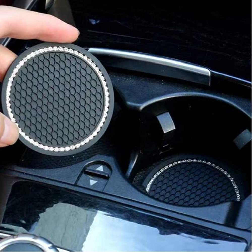 Inventory cleanup selling sale TRUE LINE Automotive Diamond Free shipping Crystal Round Insert Int Holder Cup