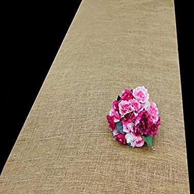 Efavormart 36 x 100ft All Natural Jute Burlap Aisle Runner - Natural
