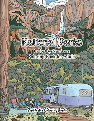 National Parks Color By Numbers Coloring Book for Adults An Adult Color By Numbers Coloring product image
