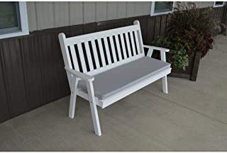 A & L Furniture Co. Yellow Pine 6' Traditional English Garden Bench - Ships Free in 5-7 Business Days