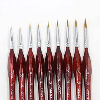 Ink Brush Professional Fine Hand-Painted Hook Line Pen Round Tip Watercolor Drawing Painting Brush Pen Art Supplies,6